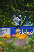 Morgan Pressel (USA) watches her tee shot on 13 during round 2 of the 2018 KPMG Women's PGA Championship, Kemper Lakes Golf Club, at Kildeer, Illinois, USA. 6/29/2018.<br /> Picture: Golffile | Ken Murray<br /> <br /> All photo usage must carry mandatory copyright credit (© Golffile | Ken Murray)
