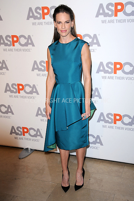 WWW.ACEPIXS.COM<br /> April 9, 2015 New York City<br /> <br /> Hilary Swank attending the 18th Annual ASPCA Bergh Ball at the Plaza Hotel on April 9, 2015 in New York City.<br /> <br /> Please byline: Kristin Callahan/AcePictures<br /> <br /> ACEPIXS.COM<br /> <br /> Tel: (646) 769 0430<br /> e-mail: info@acepixs.com<br /> web: http://www.acepixs.com