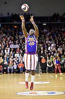 Action from the Basketball - Harlem Globetrotters at TSB Bank Arena, Wellington, New Zealand on Sunday 7 June 2015.Photo by Masanori Udagawa. <br /> www.photowellington.photoshelter.com.