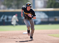 NWA Democrat-Gazette/CHARLIE KAIJO University of Missouri infielder Chris Cornelius (7) runs to third during a baseball game, Sunday, March 17, 2019 at Baum-Walker Stadium in Fayetteville.