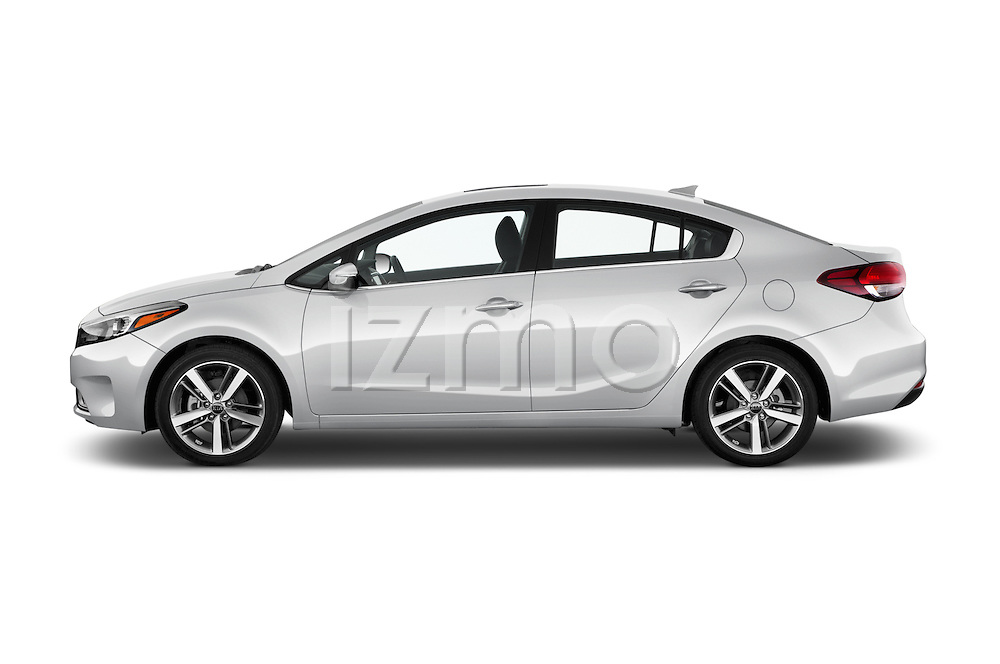 Car Driver side profile view of a 2017 KIA Forte EX-AT 4 Door Sedan Side View