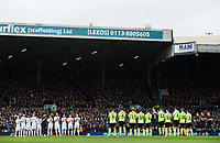 Players, officials and fans applaud for a minute before kick off<br /> <br /> Photographer Alex Dodd/CameraSport<br /> <br /> The EFL Sky Bet Championship - Leeds United v Sheffield United - Saturday 16th March 2019 - Elland Road - Leeds<br /> <br /> World Copyright © 2019 CameraSport. All rights reserved. 43 Linden Ave. Countesthorpe. Leicester. England. LE8 5PG - Tel: +44 (0) 116 277 4147 - admin@camerasport.com - www.camerasport.com