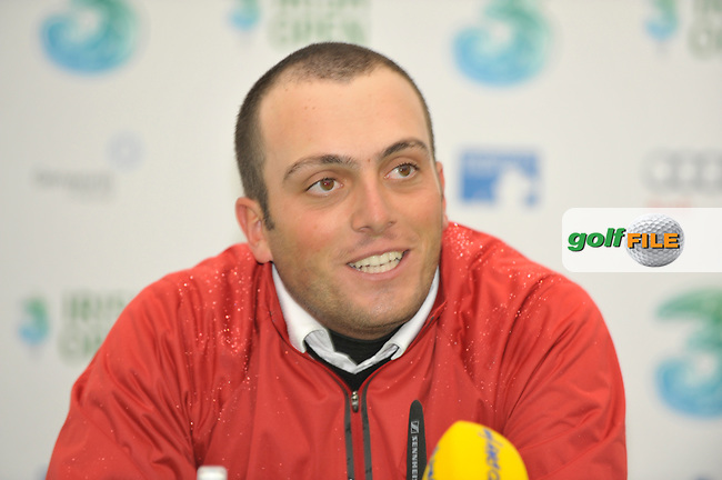 Francesco Molinari, Overnight leader after round one of the 3 Irish Open in Co.Louth Golf Club,  Baltray...Photo NEWSFILE/Eoin Clarke.(Photo credit should read Eoin Clarke/NEWSFILE)....This Picture has been sent you under the condtions enclosed by:.Newsfile Ltd..The Studio,.Millmount Abbey,.Drogheda,.Co Meath..Ireland..Tel: +353(0)41-9871240.Fax: +353(0)41-9871260.GSM: +353(0)86-2500958.email: pictures@newsfile.ie.www.newsfile.ie.FTP: 193.120.102.198.