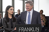 Vanessa Hudgens & Treat Williams<br /> Second Act (2018) <br /> *Filmstill - Editorial Use Only*<br /> CAP/RFS<br /> Image supplied by Capital Pictures