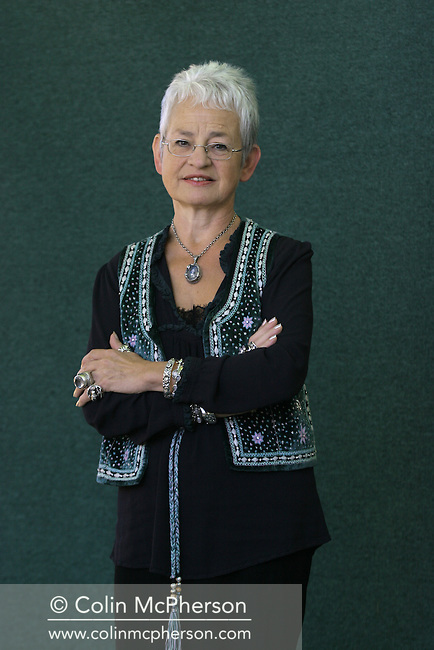 Best-selling British children's author Jacqueline Wilson pictured at the Edinburgh International Book Festival where she talked about her work and staged a book signing session for fans which lasted for five hours. The Book Festival was the World's largest literary event and featured writers from around the world. The 2006 event featured around 550 writers and ran from 13-28 August.