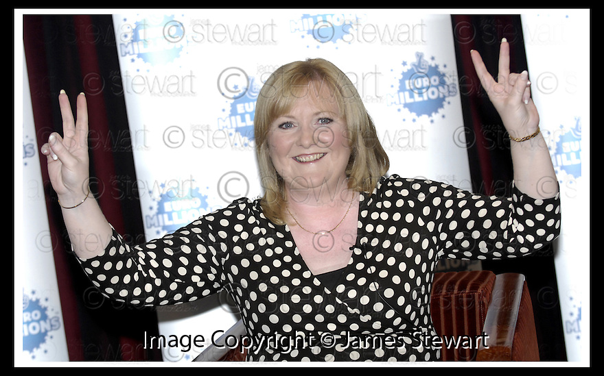15/08/2007       Copyright Pic: James Stewart.File Name : sct_jspa04_lottery.ANGELA KELLY AT THE PRESS CONFERENCE WHERE SHE COLLECT HER CHEQUE FOR £35,425,411.80 AFTER HER EUROMILLIONS LOTTERY WIN.....James Stewart Photo Agency 19 Carronlea Drive, Falkirk. FK2 8DN      Vat Reg No. 607 6932 25.Office     : +44 (0)1324 570906     .Mobile   : +44 (0)7721 416997.Fax         : +44 (0)1324 570906.E-mail  :  jim@jspa.co.uk.If you require further information then contact Jim Stewart on any of the numbers above........