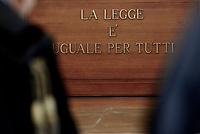 Roma, 20 Ottobre 2017<br /> La legge è uguale per tutti<br /> Aula Bunker di Rebibbia<br /> Seconda udienza udienza del nuovo processo per la morte di Stefano Cucchi che vede imputati 5 Carabinieri.<br /> Il nuovo processo è stato rinviato al 16  Novembre  alla Prima Corte D'Assise dopo che la presidente della Terza Corte d'Assise si è astenuta per incompatibilità, visto che era stata già giudice del primo processo per la morte del giovane.