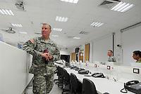 - Camp Ederle US Army base, Longare detachment (former Site Pluto), inside of training room for simulated management of battlefield ....- base US Army di caserma Ederle, distaccamento di Longare (ex Site Pluto), interno della sala di addestramento per la gestione simulata del campo di battaglia