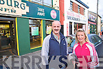 Maurice Quirke and Tina Healy shopping in Boherbee on Friday.