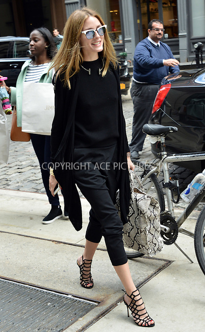 WWW.ACEPIXS.COM<br /> <br /> June 3 2015, New York City<br /> <br /> Socialite OIivia Palermo leaves a downtown hotel on June 3 2015 in New York City<br /> <br /> By Line: Curtis Means/ACE Pictures<br /> <br /> <br /> ACE Pictures, Inc.<br /> tel: 646 769 0430<br /> Email: info@acepixs.com<br /> www.acepixs.com