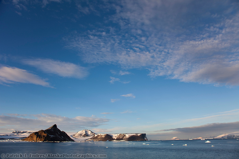 Icebergs near Devil Island, northeast side of the Antarctic peninsula.