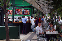 Spanien, Andalusien, Kiosk in Sevilla