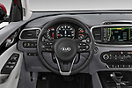 Car pictures of steering wheel view of a 2016 KIA Sorento SX AT 5 Door SUV Steering Wheel