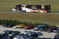 Apr 29, 2007; Talladega, AL, USA; The Hauler of Nascar Nextel Cup Series driver Dale Jarrett (44) leaves the track after blowing an engine during the Aarons 499 at Talladega Superspeedway. Mandatory Credit: Mark J. Rebilas