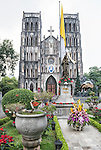 St. Joseph's is a neo-gothic Catholic cathedral built in the late 19th century after the conquest of Hanoi by the French. Its style mimics that of the Cathedral of Notre Dame in Paris.