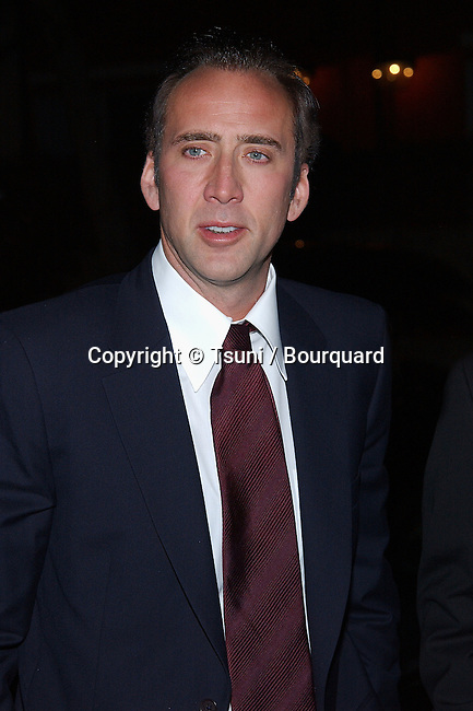 Nicolas Cage (presenter) arriving at the Los Angeles Film Critic Association, the 28th Annual Awards at the Casa Del sol in Los Angeles. January 15. 2003