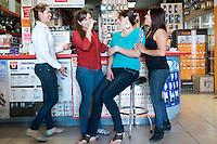 Dulce Vianet Cortez, Karla Badilla, Sandra Luz Castañeda. Hardware store owners in Mexicali, Baja California, and San Luis Rio Colorado, Sonora.  Mexico