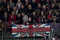 20th November 2019, Caja Magica, Madrid, Spain; Davies Cup tennis finals, Great Britain versus Netherlands;  England supporters