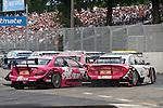04.07.2010, Norisring, Nuernberg, GER, 4. DTM Lauf Norisring 2010, im Bild.susie Stoddart (TV Spielfilm AMG Mercedes) und Katherine Legge (Audi Sport Team Rosberg) in der Grundig Kehre.Foto: nph /  News