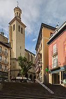 Espagne, Navarre, Pampelune, L'église de San Cernin ou de San Saturnino (Saint Saturnin), du XIIe et XVe siècles  // Spain, Navarra, Pamplona, San Saturnino Church, or Church of San Cernín,  12th and 15th century