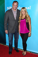 PASADENA, CA, USA - APRIL 08: Matt Iseman, Jenn Brown at the NBCUniversal Summer Press Day 2014 held at The Langham Huntington Hotel and Spa on April 8, 2014 in Pasadena, California, United States. (Photo by Xavier Collin/Celebrity Monitor)