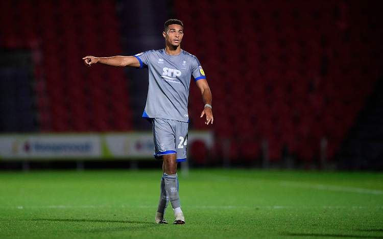 Lincoln City's Max Melbourne<br /> <br /> Photographer Chris Vaughan/CameraSport<br /> <br /> EFL Leasing.com Trophy - Northern Section - Group H - Doncaster Rovers v Lincoln City - Tuesday 3rd September 2019 - Keepmoat Stadium - Doncaster<br />  <br /> World Copyright © 2018 CameraSport. All rights reserved. 43 Linden Ave. Countesthorpe. Leicester. England. LE8 5PG - Tel: +44 (0) 116 277 4147 - admin@camerasport.com - www.camerasport.com