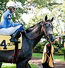 Bryan's Jewel before The Unbridled Belle Stakes at Delaware Park on 8/15/13