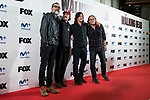 """Jeffrey Dean Morgan, Andrew Lincoln, Norman Reedus and director of the series, Greg Nicotero attends to an event with fans of """"The Walking Dead"""" at Cines Capitol in Madrid. March 09, 2017. (ALTERPHOTOS/Borja B.Hojas)"""