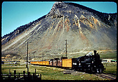 #476 K-28 with excursion train of 10 cars, and 3 cabooses.<br /> D&amp;RGW  Durango, CO