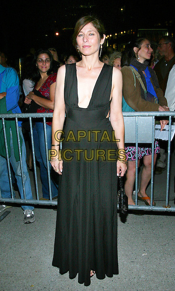 "CATHERINE KEENER.The NYFF Premiere of Sony Classics ""Capote"", Alice Tulley Hall, NYC..September 27th, 2005.Photo Credit Jackson Lee/AdMedia/Capital Pictures.Ref: JL/ADM.full length black dress plunging neckline.www.capitalpictures.com.sales@capitalpictures.com.© Capital Pictures."