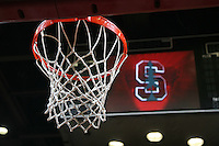 2 November 2006: Basketball hoop and net during Stanford's 103-57 win against Chico State Wildcats at Maples Pavilion in Stanford, CA.