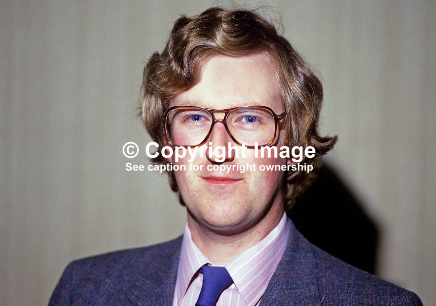 Will Glendinning, assemblyman, West Belfast, Alliance Party, N Ireland. Also member city council. 19840063WG<br /> <br /> Copyright Image from Victor Patterson,<br /> 54 Dorchester Park, <br /> Belfast, UK, BT9 <br /> <br /> t1: +44 28 9066 1296 (from Rep of Ireland 048 90661296)<br /> t2: +44 28 9002 2446 (from Rep of Ireland 048 9002 2446)<br /> <br /> m: +44 7802 353836<br /> <br /> e: victorpatterson@me.com<br /> www.victorpatterson.com<br /> <br /> Please see my Terms and Conditions of Use at www.victorpatterson.com. It is IMPORTANT that you familiarise yourself with them.<br /> <br /> Images used on the Internet must be visibly watermarked i.e. &copy; Victor Patterson<br /> within the body of the image and copyright metadata must not be deleted. Images <br /> used on the Internet have a size restriction of 4kbs and will be chargeable at current<br />  NUJ rates unless agreed otherwise.<br /> <br /> This image is only available for the use of the recipient i.e. television station, newspaper, magazine, book publisher, etc, and must not be passed on to any third party. It is also downloaded on condition that each and every usage is notified within 7 days to victorpatterson@me.com<br /> <br /> The right of Victor Patterson to be identified as the author is asserted in accordance with The Copyright Designs And Patents Act (1988). All moral rights are asserted.