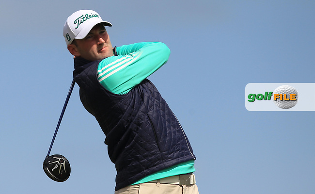 Barry Anderson (The Royal Dublin) on the 14th tee during Round 1 of the Flogas Irish Amateur Open Championship at Royal Dublin on Thursday 5th May 2016.<br /> Picture:  Thos Caffrey / www.golffile.ie