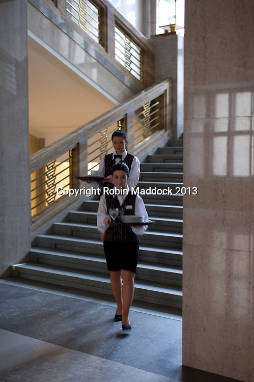 girl serving at  an Ostrava city Hall official function