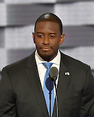 Mayor Andrew Gillum (Democrat of Tallahassee, Florida) makes remarks during the third session of the 2016 Democratic National Convention at the Wells Fargo Center in Philadelphia, Pennsylvania on Wednesday, July 27, 2016.<br /> Credit: Ron Sachs / CNP<br /> (RESTRICTION: NO New York or New Jersey Newspapers or newspapers within a 75 mile radius of New York City)