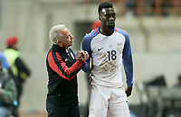 Leiria, Portugal - Tuesday November 14, 2017: Dave Sarachan, C.J. Sapong during an International friendly match between the United States (USA) and Portugal (POR) at Estádio Dr. Magalhães Pessoa.