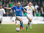 St Johnstone v Celtic.....14.02.15<br /> Lee Croft gets away from Scott Brown<br /> Picture by Graeme Hart.<br /> Copyright Perthshire Picture Agency<br /> Tel: 01738 623350  Mobile: 07990 594431