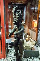Hawaiian carved tiki exhibit, Bishop Museum, Honolulu
