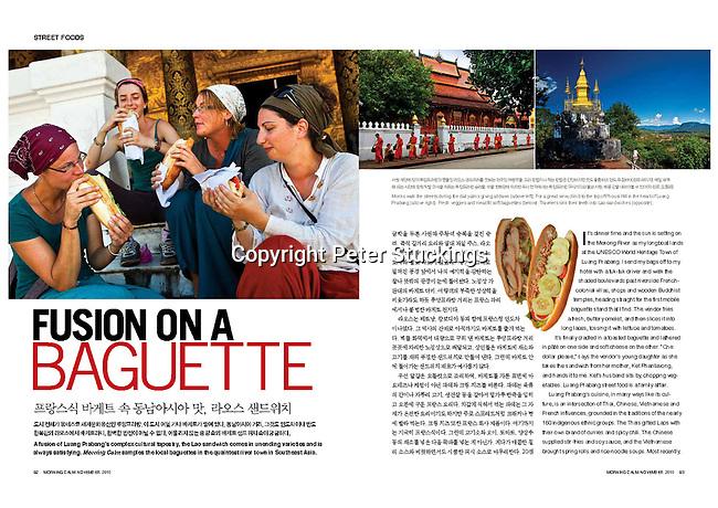Lao sandwich in Luang Prabang, story for Morning Calm, Korean Airlines magazine, Nov 2010