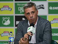 CALI-COLOMBIA ,11 -12-2018.Presentación del nuevo director técnico del Deportivo Cali Lucas Pusineri .Sede del Deportivo Cali en Pance./ Presentation of the new coach of Deportivo Cali Lucas Pusineri. Seat of Deportivo Cali in Pance. Photo: VizzorImage/ Nelson Rios / Contribuidor