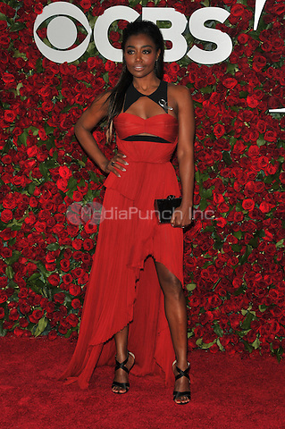NEW YORK, NY - JUNE 12: Patina Miller at the 70th Annual Tony Awards at The Beacon Theatre on June 12, 2016 in New York City. Credit: John Palmer/MediaPunch