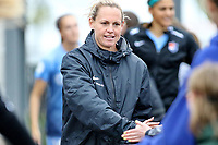 Piscataway, NJ - Sunday April 30, 2017: Christie Pearce during a regular season National Women's Soccer League (NWSL) match between Sky Blue FC and FC Kansas City at Yurcak Field.