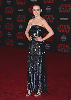 "LOS ANGELES- DECEMBER 9:  Daisy Ridley at the World Premiere of Disney Pictures and Lucasfilm's ""Star Wars: The Last Jedi"" at the Shrine Auditorium on December 9, 2017 in Los Angeles, California. (Photo by Scott Kirkland/PictureGroup)"