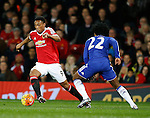 Anthony Martial of Manchester United turns Willian of Chelsea - English Premier League - Manchester Utd vs Chelsea - Old Trafford Stadium - Manchester - England - 28th December 2015 - Picture Simon Bellis/Sportimage
