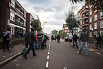 © Joel Goodman - 07973 332324 . 08/08/2011 . London , UK . Riots on Clarence Road on the Pembury Estate in Hackney during a 3rd night of rioting and looting in London , which followed a protest against the police shooting of Mark Duggan in Tottenham . Photo credit : Joel Goodman