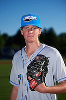 Hudson Valley Renegades pitcher Spencer Moran (17) poses for a photo before a game against the Batavia Muckdogs on August 1, 2016 at Dwyer Stadium in Batavia, New York.  Hudson Valley defeated Batavia 5-1.  (Mike Janes/Four Seam Images)