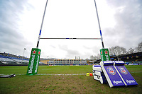 A general view of the Recreation Ground pitch prior to the match. European Rugby Champions Cup match, between Bath Rugby and RC Toulon on January 23, 2016 at the Recreation Ground in Bath, England. Photo by: Patrick Khachfe / Onside Images