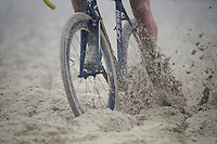 weaving/plowing through the thick beach sand<br />