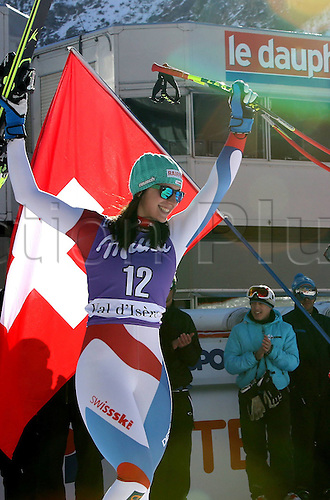 21.12.2013. Val d'Isere France. FIS womens downhill skiing World Cup. Marianne Kaufmann-Abderhalden (SUI).