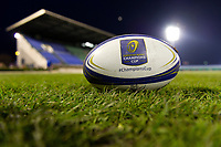 A general view of a European Rugby Champions Cup branded ball prior to the match. European Rugby Champions Cup match, between Benetton Rugby and Bath Rugby on January 20, 2018 at the Municipal Stadium of Monigo in Treviso, Italy. Photo by: Patrick Khachfe / Onside Images